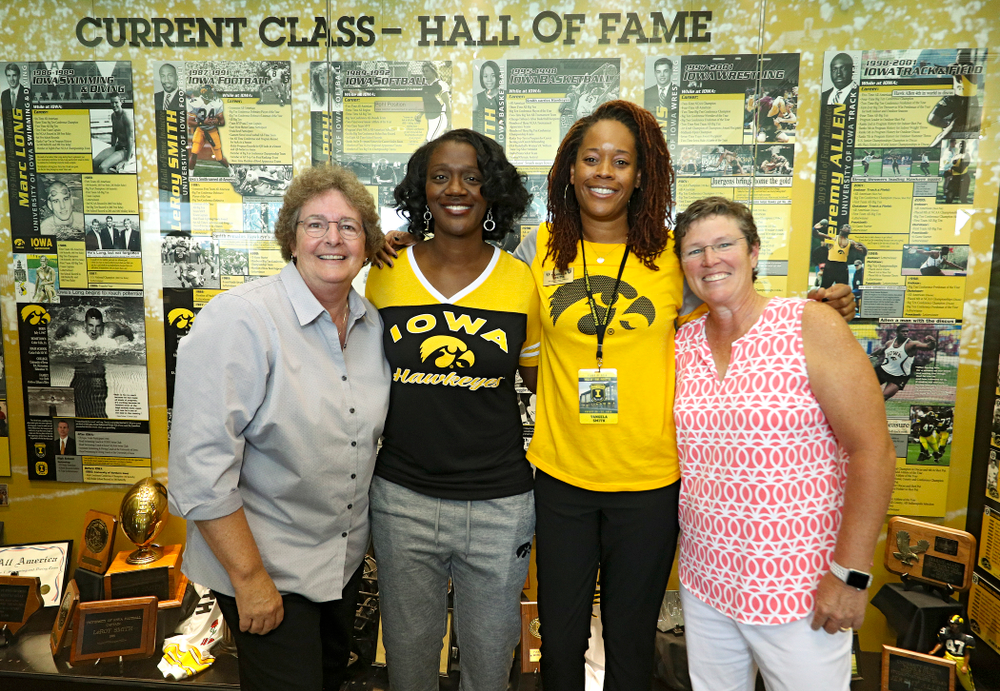 2019 University of Iowa Athletics Hall of Fame inductee Tangela Smith at the University of Iowa Athletics Hall of Fame in Iowa City on Friday, Aug 30, 2019. (Stephen Mally/hawkeyesports.com)