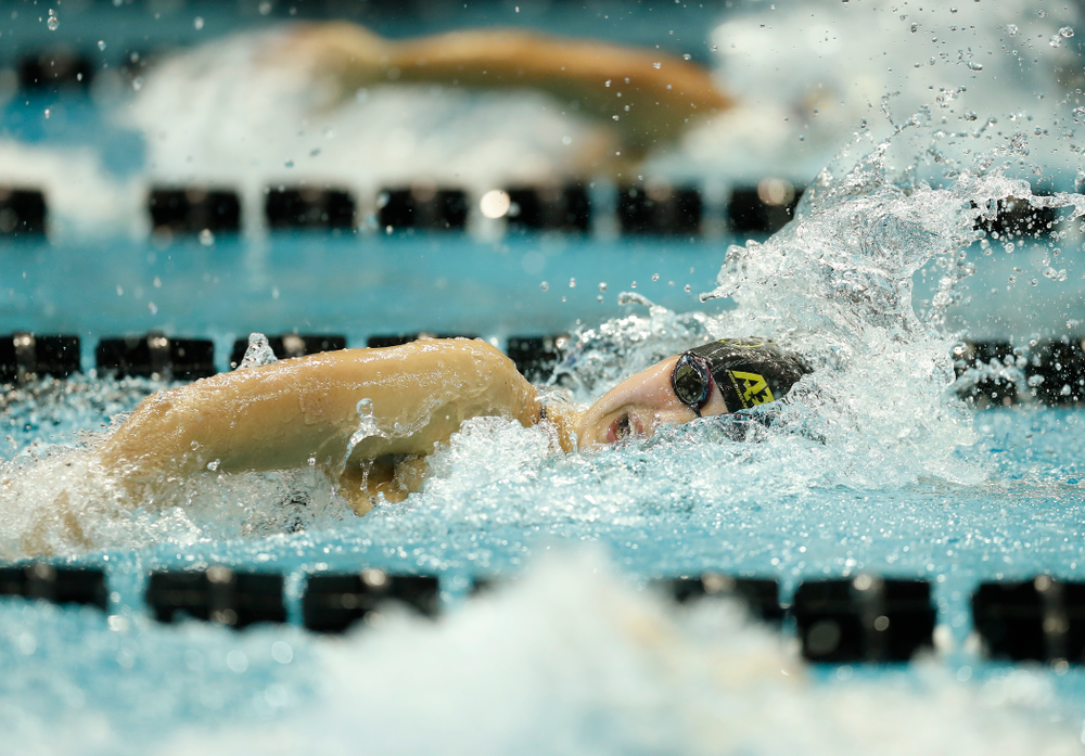 Iowa's Hanna Burvill swims the 100 yard freestyle
