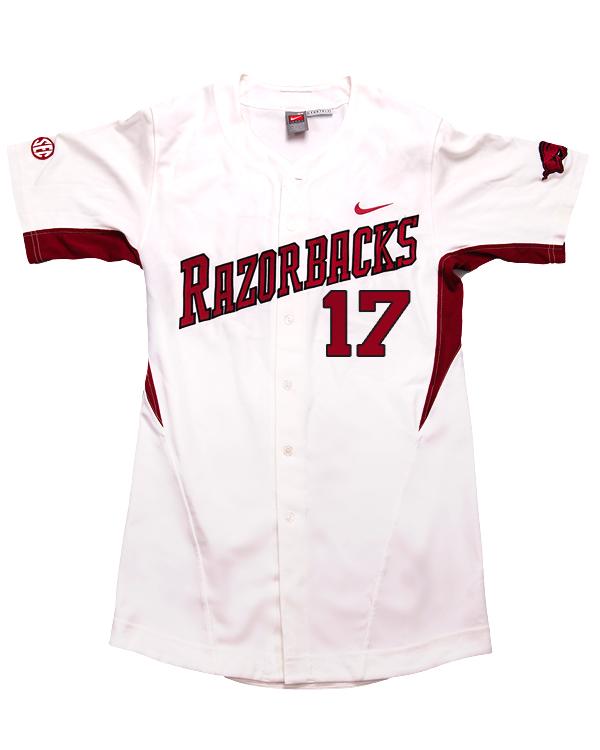 Arkansas Razorbacks Game Used White Game Jersey Worn Between The 2011 And 2014 Baseball Seasons Arkansas Razorbacks Store Shop University Of Arkansas Apparel Gear Gifts Clothing