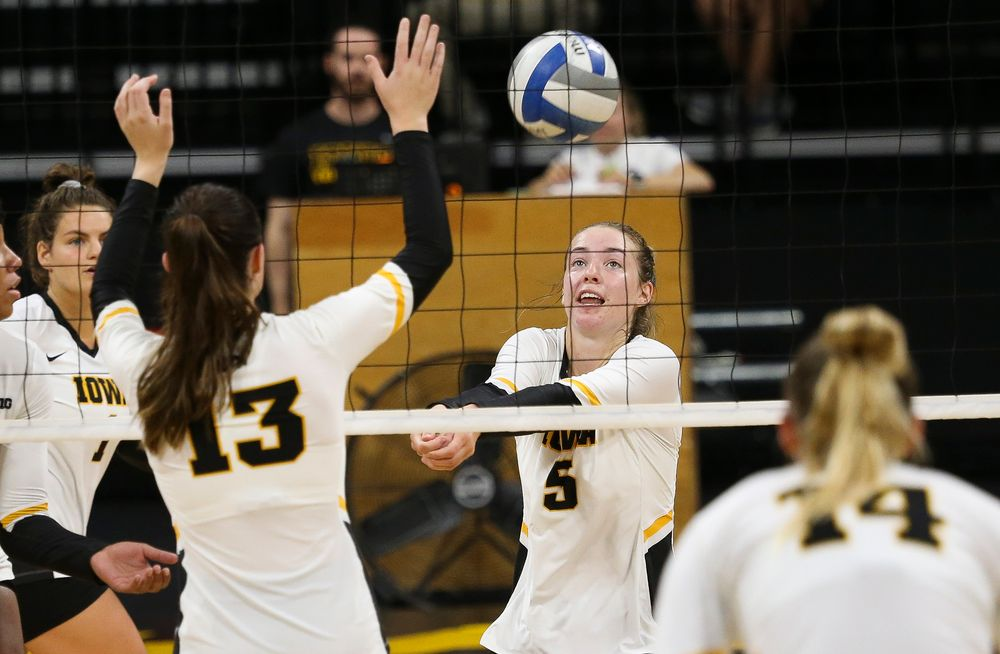 Iowa Hawkeyes outside hitter Meghan Buzzerio (5)