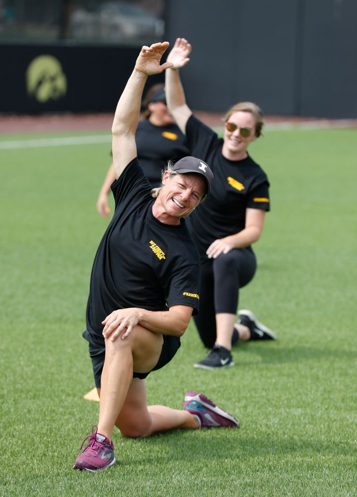 Head Women's Golf Coach Megan Menzel during the Iowa Student Athlete Kickoff Kickball game  Sunday, August 19, 2018 at Duane Banks Field. (Brian Ray/hawkeyesports.com)