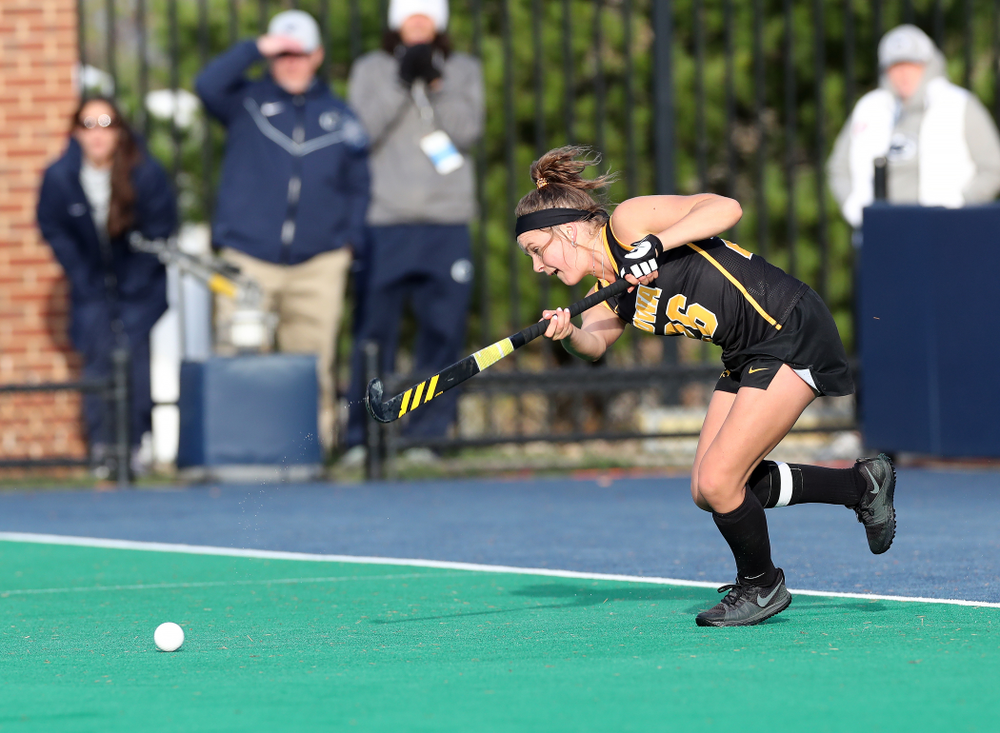 Iowa Hawkeyes forward Maddy Murphy (26) against Penn State in the 2019 Big Ten Field Hockey Tournament Championship Game Sunday, November 10, 2019 in State College. (Brian Ray/hawkeyesports.com)