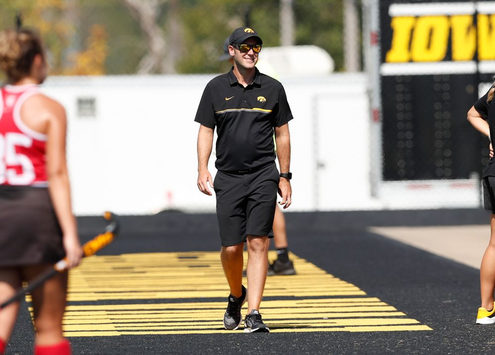 Assistant Coach Michael Boal against Indiana Sunday, September 16, 2018 at Grant Field. (Brian Ray/hawkeyesports.com)