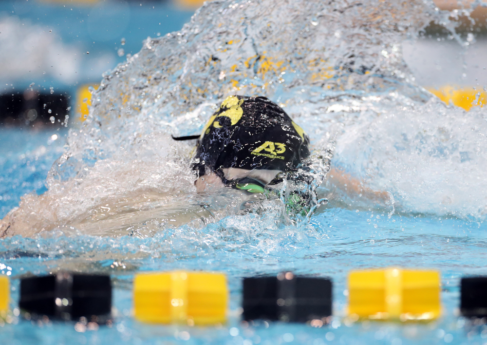 IowaÕs Maddie Ziegert swims the 50 yard freestyle against the Michigan Wolverines Friday, November 1, 2019 at the Campus Recreation and Wellness Center. (Brian Ray/hawkeyesports.com)