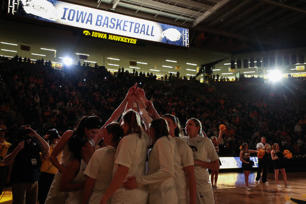 The Iowa Hawkeyes against the Illinois Fighting Illini Thursday, February 14, 2019 at Carver-Hawkeye Arena. (Brian Ray/hawkeyesports.com)
