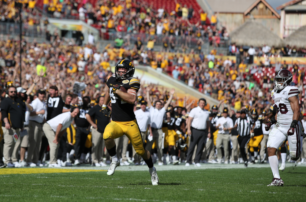 Iowa Hawkeyes wide receiver Nick Easley (84) during their Outback Bowl Tuesday, January 1, 2019 at Raymond James Stadium in Tampa, FL. (Brian Ray/hawkeyesports.com)