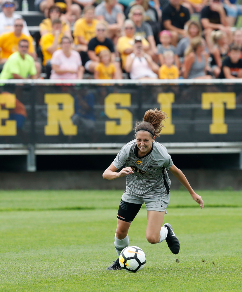 Iowa Hawkeyes Josie Durr (25) against Indiana State Sunday, August 26, 2018 at the Iowa Soccer Complex. (Brian Ray/hawkeyesports.com)