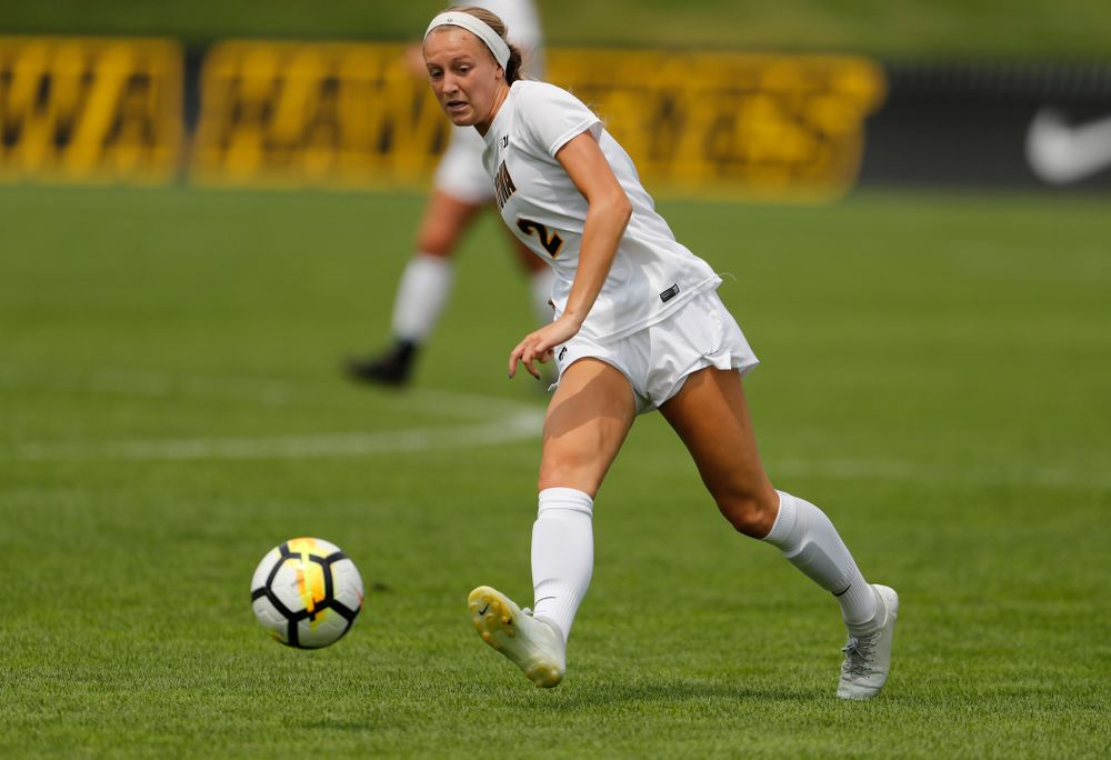 Iowa Hawkeyes Hailey Rydberg (2) against the Creighton Bluejays  Sunday, August 19, 2018 at the Iowa Soccer Complex. (Brian Ray/hawkeyesports.com)