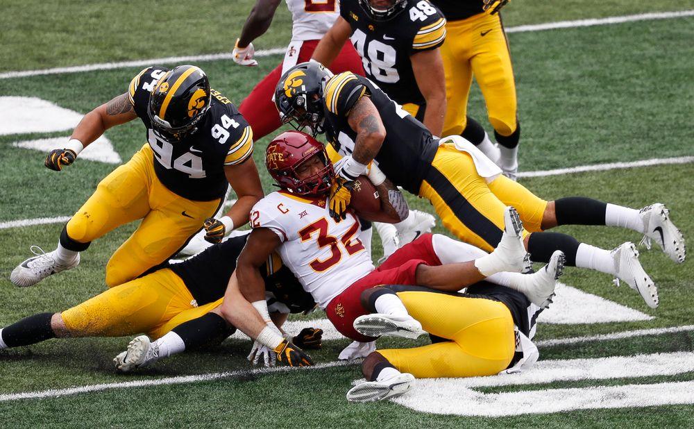 Iowa Hawkeyes defensive back Amani Hooker (27)