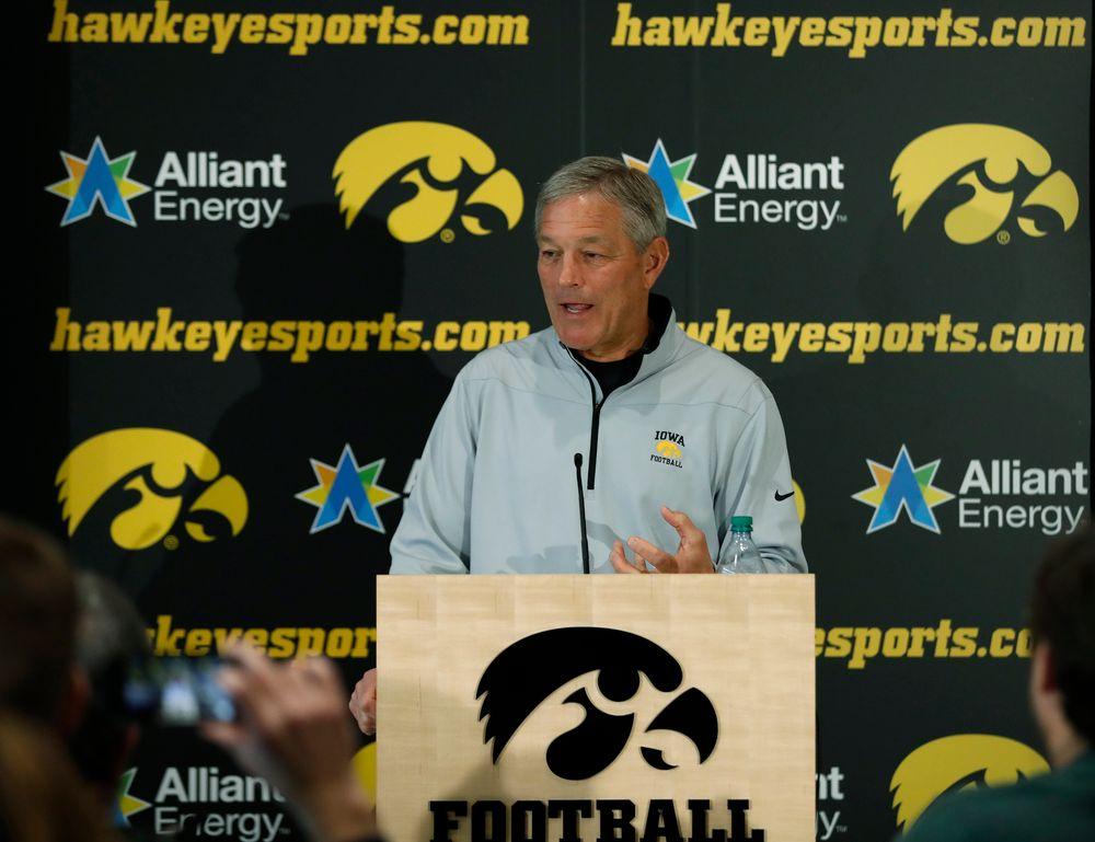 Iowa Hawkeyes head coach Kirk Ferentz