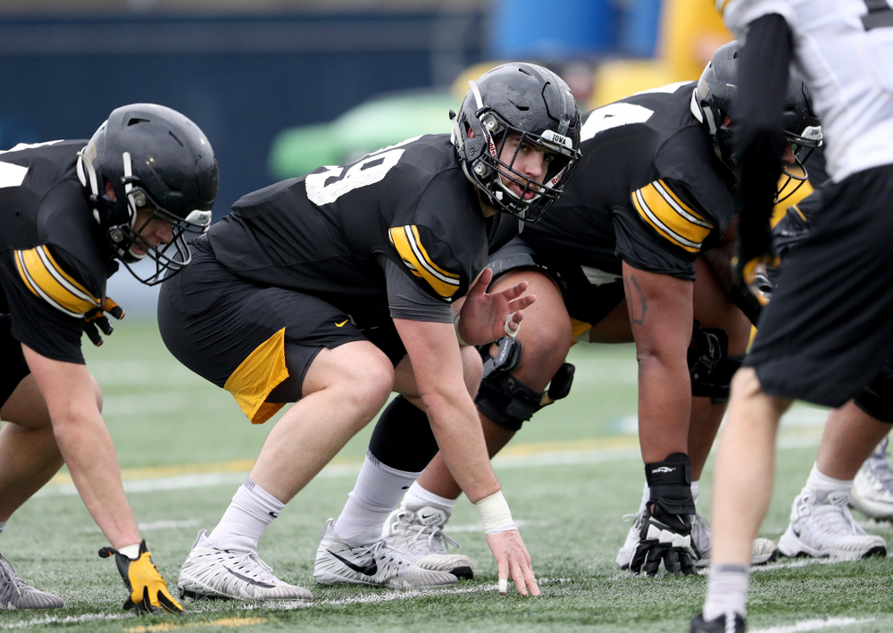 Iowa Hawkeyes tight end Nate Wieting (39) during practice Monday, December 23, 2019 at Mesa College in San Diego. (Brian Ray/hawkeyesports.com)
