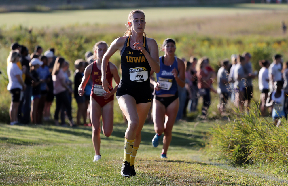 IowaÕs Mary Arch runs in the 2019 Hawkeye Invitational Friday, September 6, 2019 at the Ashton Cross Country Course. (Brian Ray/hawkeyesports.com)