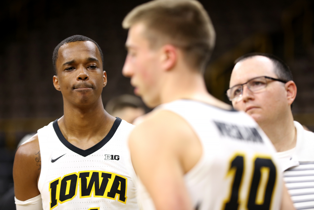 Iowa Hawkeyes guard Maishe Dailey (1) during the team's annual media day Monday, October 8, 2018 at Carver-Hawkeye Arena. (Brian Ray/hawkeyesports.com)