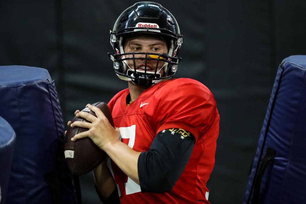 Iowa Hawkeyes quarterback Ryan Schmidt (17)