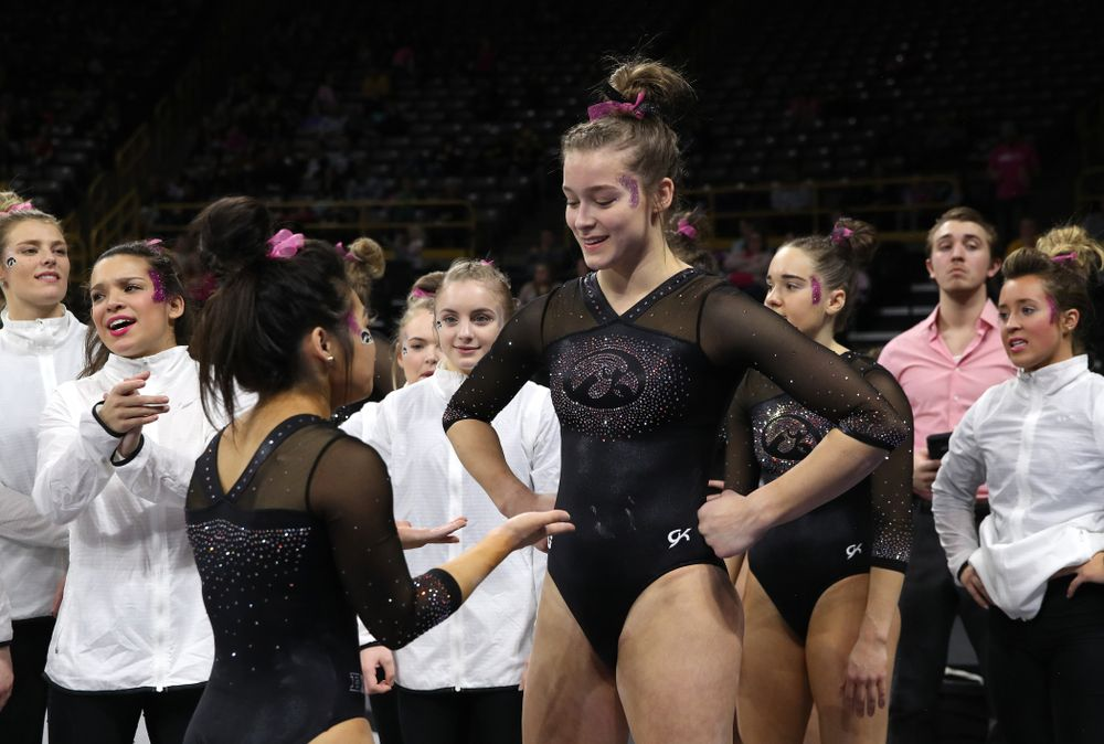 Iowa's Mackenzie Vance competes on the beam during their meet against the Minnesota Golden Gophers Saturday, January 19, 2019 at Carver-Hawkeye Arena. (Brian Ray/hawkeyesports.com)
