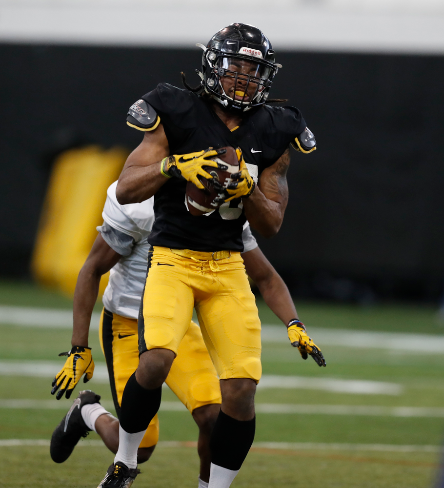 Iowa Hawkeyes wide receiver Devonte Young (80) during spring practice  Saturday, March 31, 2018 at the Hansen Football Performance Center. (Brian Ray/hawkeyesports.com)