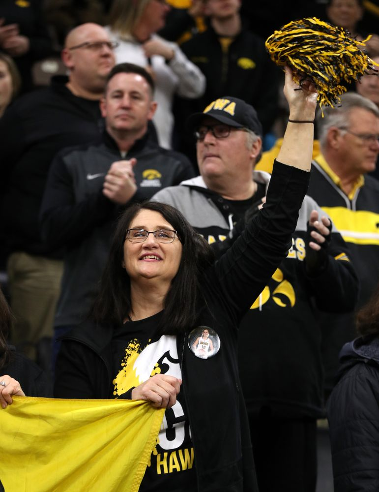 Eva Gustafson (10) against the Northwestern Wildcats Sunday, March 3, 2019 at Carver-Hawkeye Arena. (Brian Ray/hawkeyesports.com)