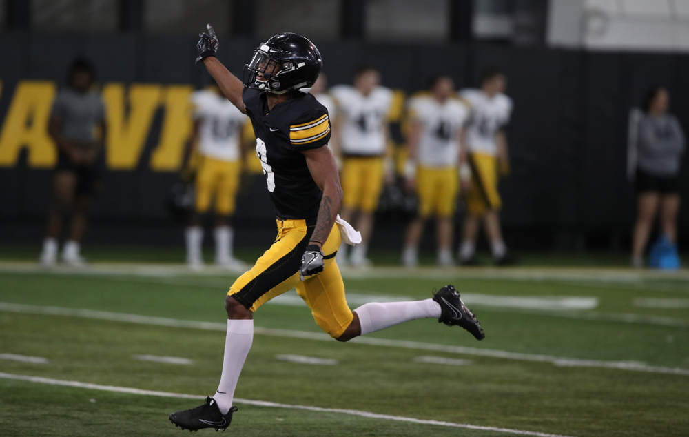 Iowa Hawkeyes wide receiver Ihmir Smith-Marsette (6) during preparation for the 2019 Outback Bowl Wednesday, December 19, 2018 at the Hansen Football Performance Center. (Brian Ray/hawkeyesports.com)
