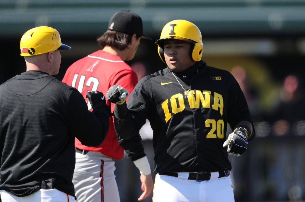 Iowa Hawkeyes Izaya Fullard (20) against California State Northridge Sunday, March 17, 2019 at Duane Banks Field. (Brian Ray/hawkeyesports.com)