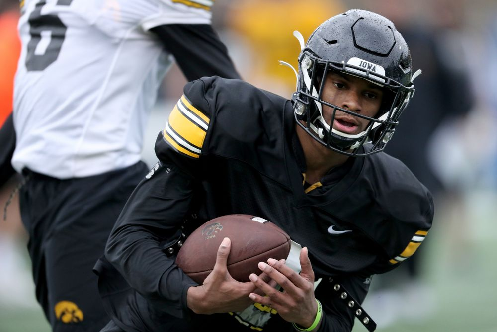 Iowa Hawkeyes wide receiver Ihmir Smith-Marsette (6) during practice Monday, December 23, 2019 at Mesa College in San Diego. (Brian Ray/hawkeyesports.com)