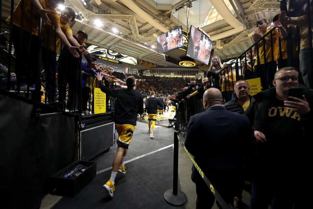 The Iowa Hawkeyes against the Nebraska Cornhuskers Saturday, February 8, 2020 at Carver-Hawkeye Arena. (Brian Ray/hawkeyesports.com)