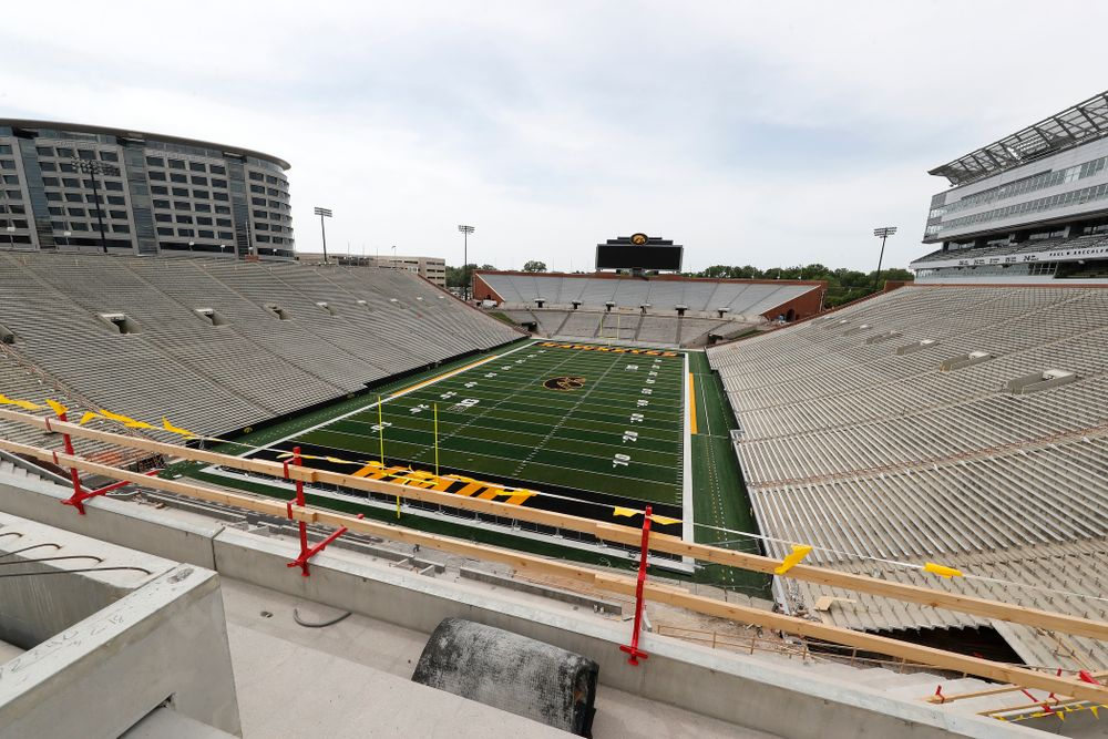The view from northwest corner of the lower premium seating area on the third deck in the new north end zone Wednesday, June 6, 2018 at Kinnick Stadium. (Brian Ray/hawkeyesports.com)