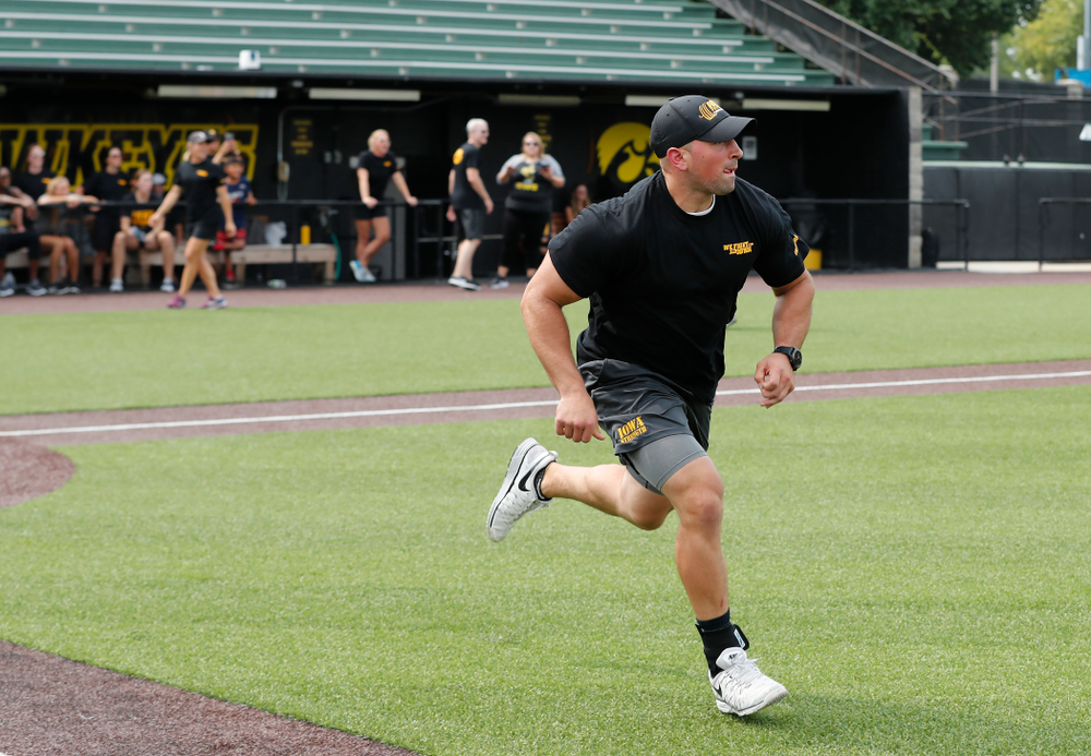 Football Strength and Conditioning coach Mark Weismann during the Iowa Student Athlete Kickoff Kickball game  Sunday, August 19, 2018 at Duane Banks Field. (Brian Ray/hawkeyesports.com)