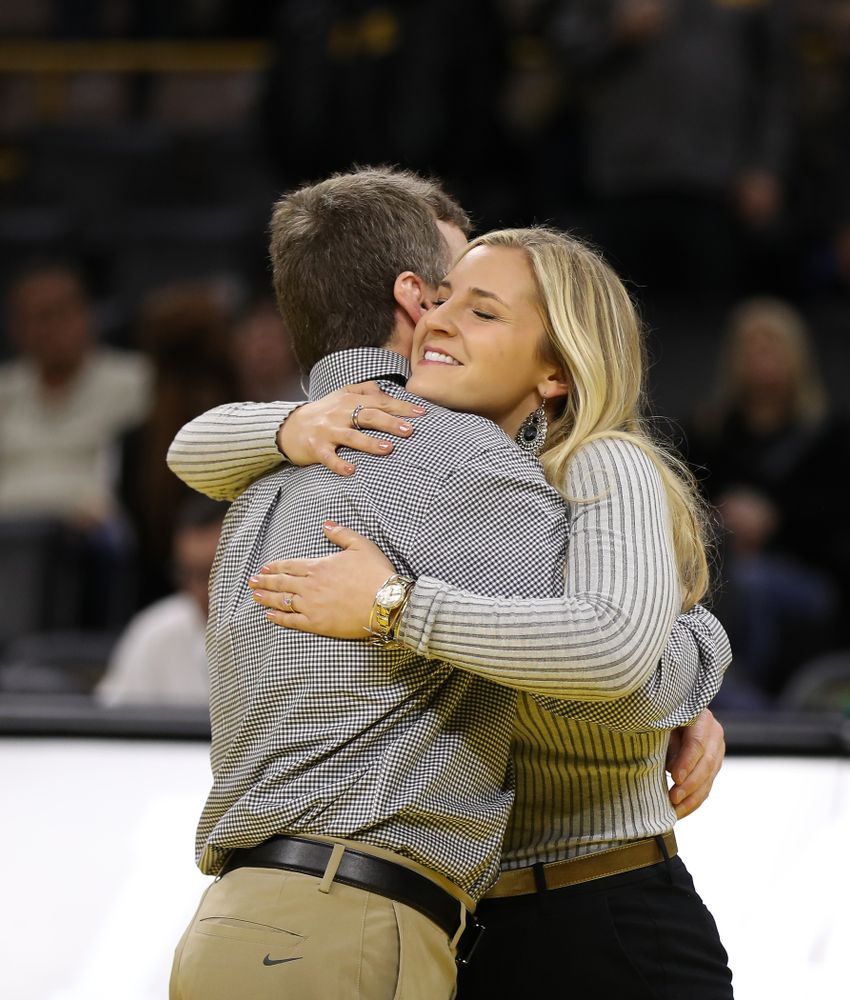 Senior Manager Moriah Stickley against the Indiana Hoosiers Friday, February 15, 2019 at Carver-Hawkeye Arena. (Brian Ray/hawkeyesports.com)