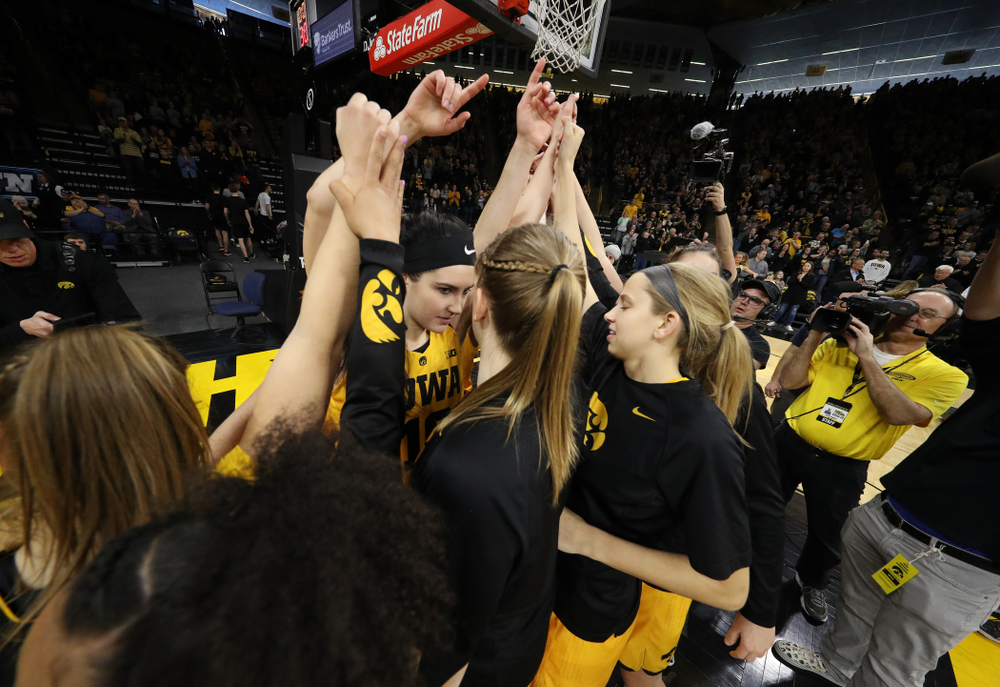The Iowa Hawkeyes against the Northwestern Wildcats Sunday, March 3, 2019 at Carver-Hawkeye Arena. (Brian Ray/hawkeyesports.com)