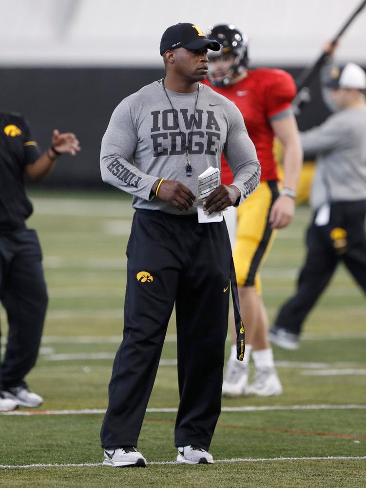 Kelton Copeland -- University of Iowa spring football practice No. 6 on March 31, 2018, in Iowa City, Iowa. (Darren Miller/hawkeyesports.com)