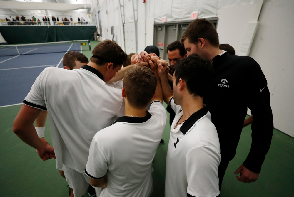 The Iowa Hawkeyes against Purdue Sunday, April 15, 2018 at the Hawkeye Tennis and Recreation Center. (Brian Ray/hawkeyesports.com)