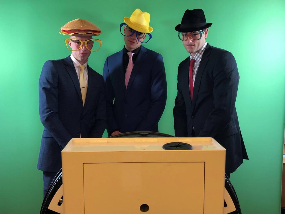 Joe Wieskamp, Luka Garza, Ryan Kriener 2019 B1G Media Day Oct. 2, 2019