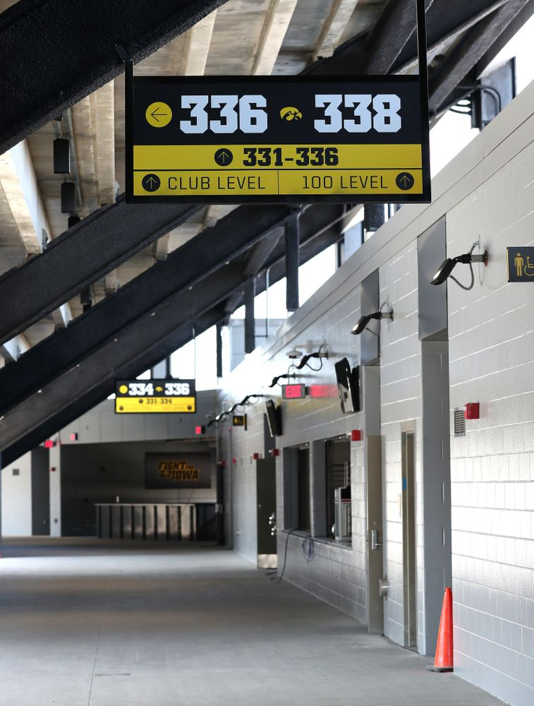 The concourse on the third level in the new north end zone of Kinnick Stadium Friday, August 9, 2019. (Brian Ray/hawkeyesports.com)