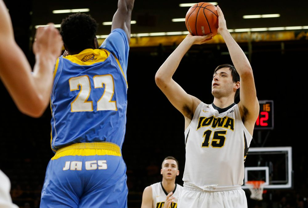 Iowa Hawkeyes forward Ryan Kriener (15)