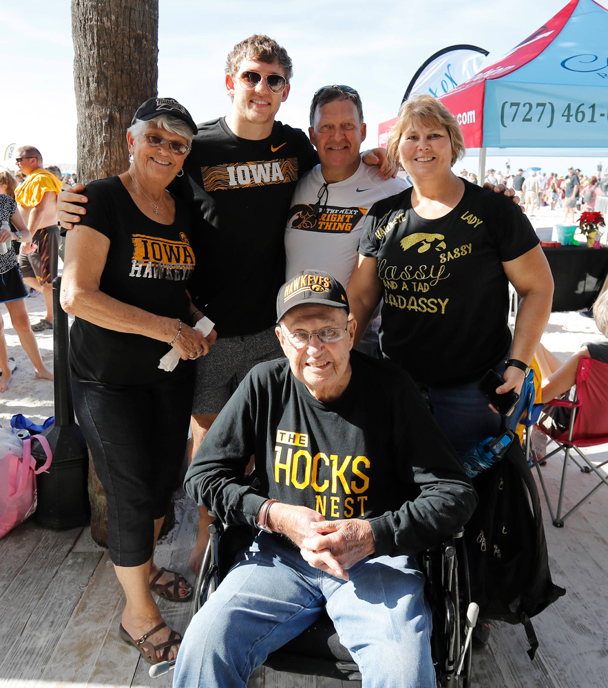 "T.J. Hockenson and other family members of the ""Hocks Nest"""