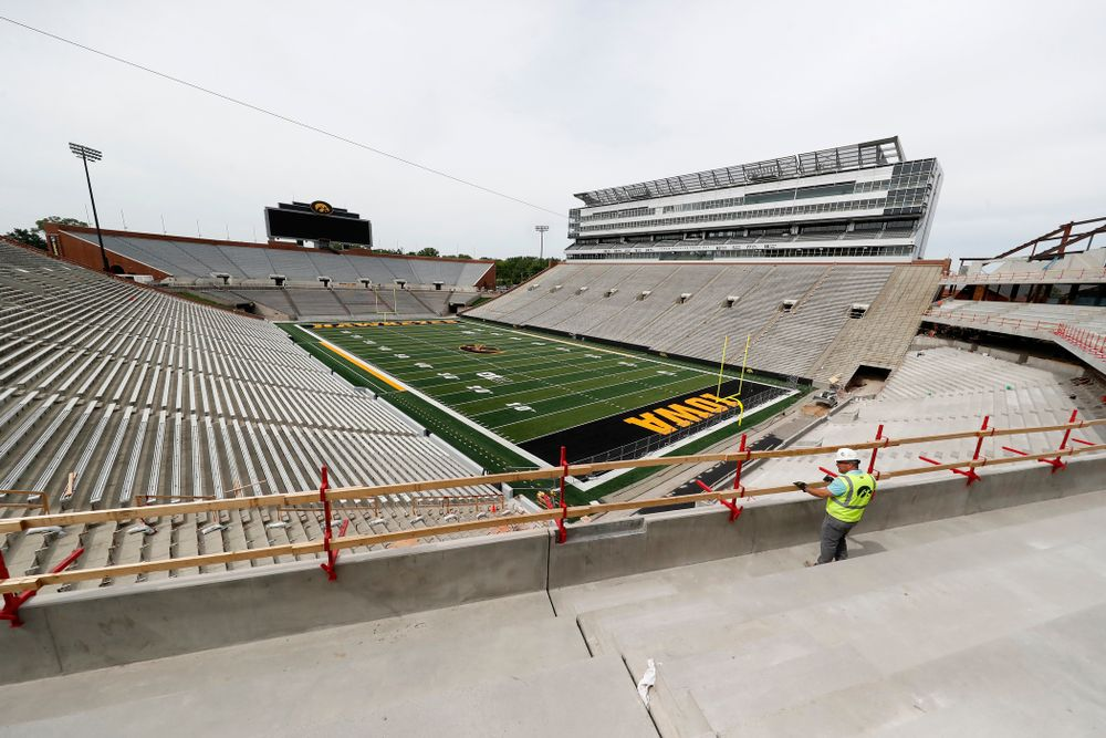 The view from the seating area of the northeast corner of the club level Wednesday, June 6, 2018 at Kinnick Stadium. (Brian Ray/hawkeyesports.com)