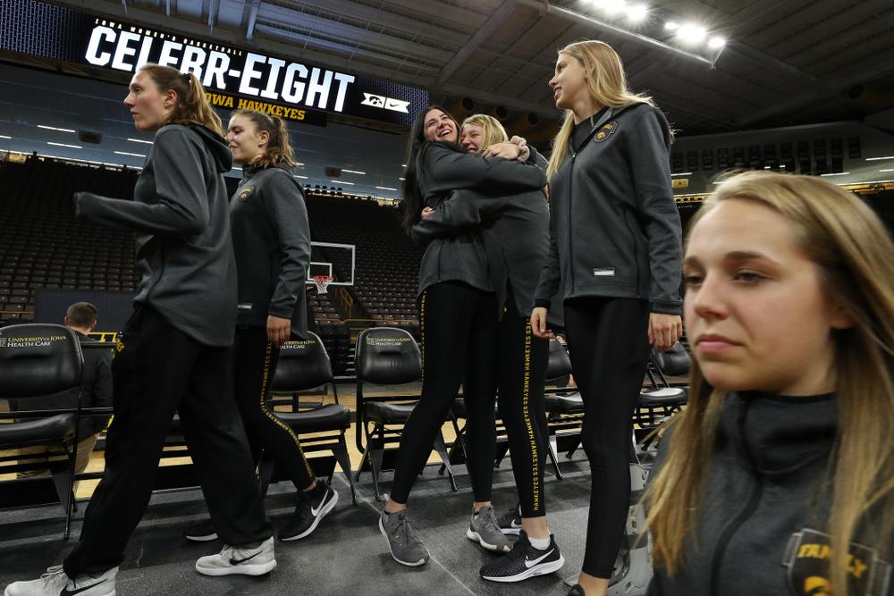 Iowa Hawkeyes forward Megan Gustafson (10) during the teamÕs Celebr-Eight event Wednesday, April 24, 2019 at Carver-Hawkeye Arena. (Brian Ray/hawkeyesports.com)