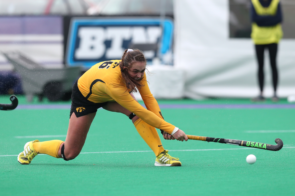 Iowa Hawkeyes Anthe Nijziel (6) against the Michigan Wolverines in the semi-finals of the Big Ten Tournament Friday, November 2, 2018 at Lakeside Field on the campus of Northwestern University in Evanston, Ill. (Brian Ray/hawkeyesports.com)