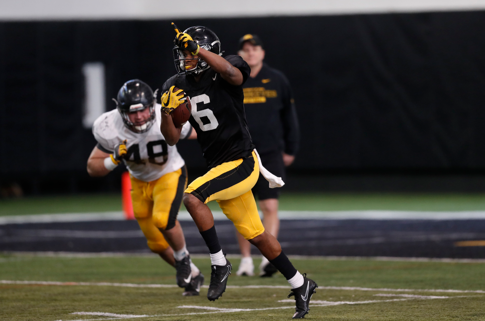 Iowa Hawkeyes wide receiver Ihmir Smith-Marsette (6) Wednesday, April 4, 2018 at the Hansen Football Performance Center. (Brian Ray/hawkeyesports.com)