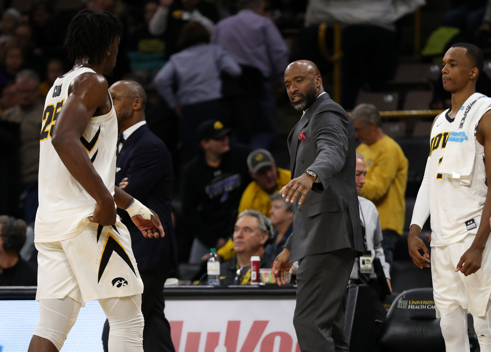 Iowa Hawkeyes assistant coach Andrew Francis against UW Green Bay Sunday, November 11, 2018 at Carver-Hawkeye Arena. (Brian Ray/hawkeyesports.com)