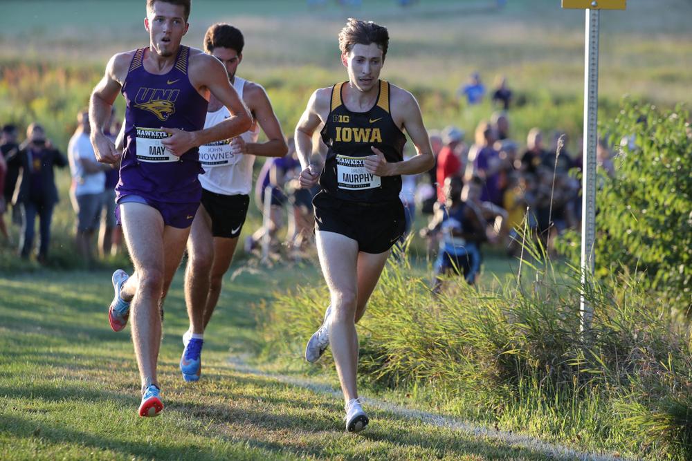 IowaÕs Daniel Murphy runs in the 2019 Hawkeye Invitational Friday, September 6, 2019 at the Ashton Cross Country Course. (Brian Ray/hawkeyesports.com)