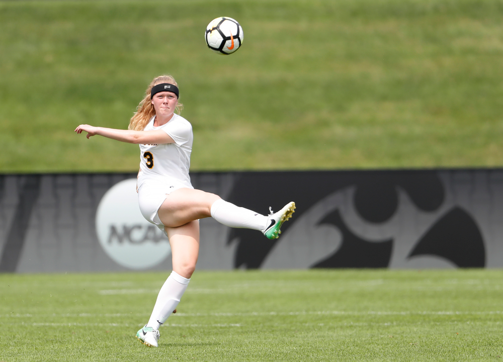 Iowa Hawkeyes Morgan Kemmerling (3) against the Creighton Bluejays  Sunday, August 19, 2018 at the Iowa Soccer Complex. (Brian Ray/hawkeyesports.com)