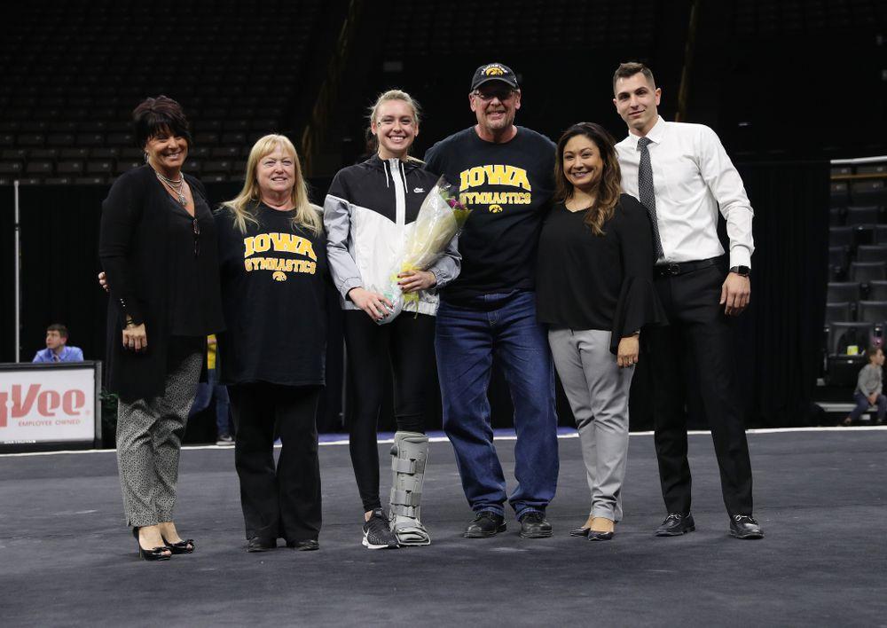 The Iowa Hawkeyes against the Iowa State Cyclones Friday, March 1, 2019 at Carver-Hawkeye Arena. (Brian Ray/hawkeyesports.com)