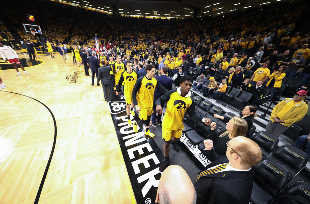 The Iowa Hawkeyes against the Wisconsin Badgers Friday, November 30, 2018 at Carver-Hawkeye Arena. (Brian Ray/hawkeyesports.com)