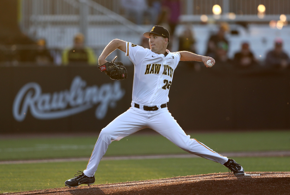 Iowa Hawkeyes Adam Ketelsen (26) against the Michigan State Spartans Friday, May 10, 2019 at Duane Banks Field. (Brian Ray/hawkeyesports.com)