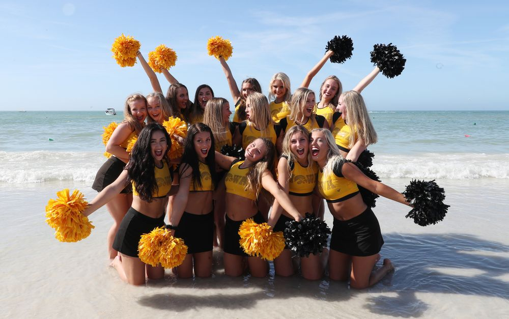The Iowa Dance Team during the Outback Bowl Beach Day Sunday, December 30, 2018 at Clearwater Beach. (Brian Ray/hawkeyesports.com)