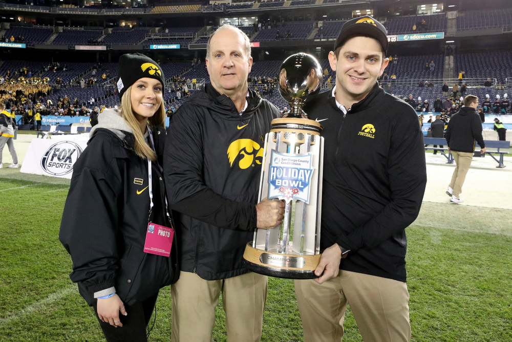 The Parker Family against USC in the Holiday Bowl Friday, December 27, 2019 at San Diego Community Credit Union Stadium.  (Brian Ray/hawkeyesports.com)