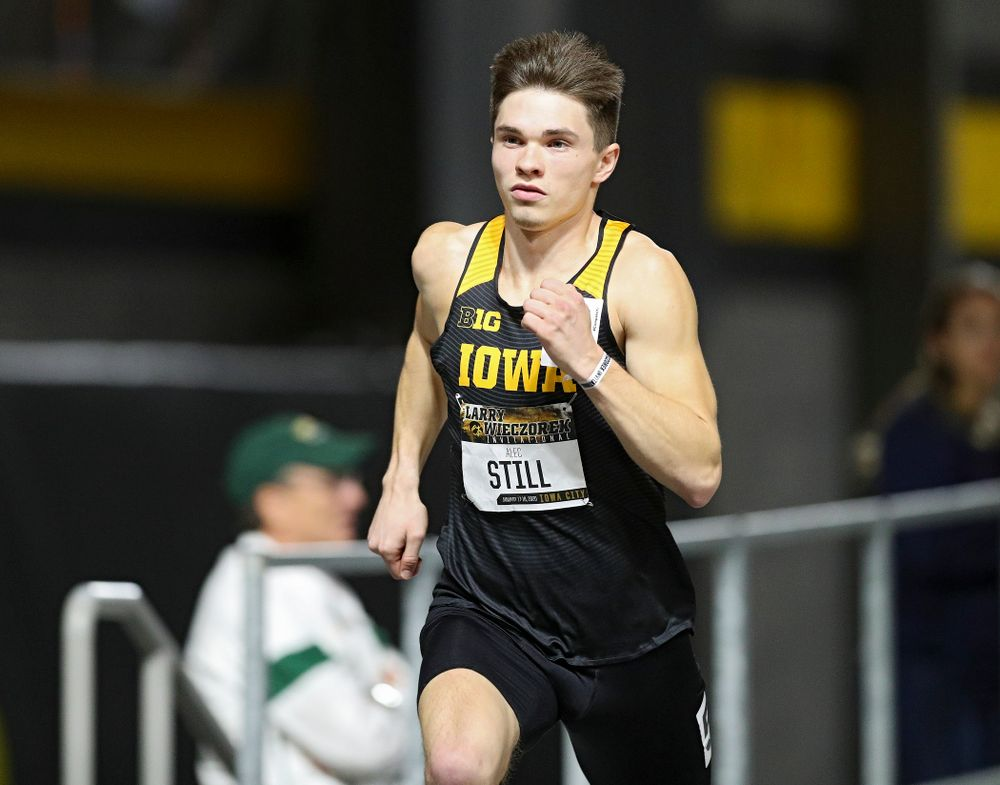 Iowa's Alec Still runs the men's 600 meter run premier event during the Larry Wieczorek Invitational at the Recreation Building in Iowa City on Friday, January 17, 2020. (Stephen Mally/hawkeyesports.com)