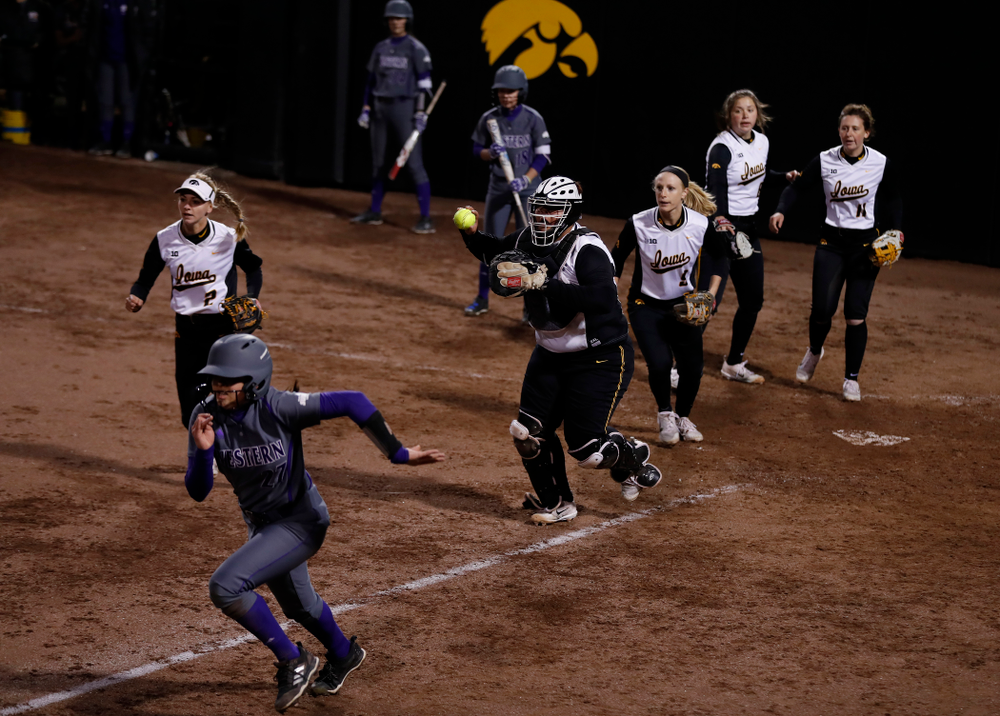 Iowa Hawkeyes catcher Devin Cantu (13) against Western Illinois Tuesday, April 17, 2018 at Bob Pearl Field. (Brian Ray/hawkeyesports.com)