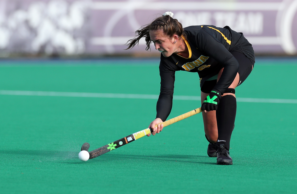 Iowa Hawkeyes defenseman Anthe Nijziel (6) against Penn State in the 2019 Big Ten Field Hockey Tournament Championship Game Sunday, November 10, 2019 in State College. (Brian Ray/hawkeyesports.com)